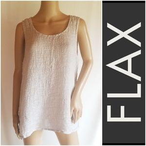 Flax soft linen flowy tank, textured